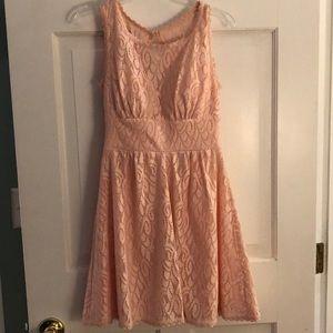 Pale pink sleeveless dress